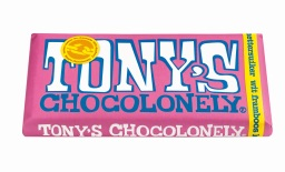 Tony's Chocolonely - wit framboos knettersuiker